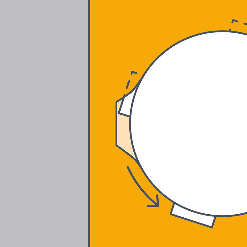 1. Zylinder gemäss Skizze vorsichtig abschrauben. Alle vier Laschen ausdrehen.